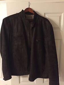 Mens Danier Brown Suede Leather Jacket