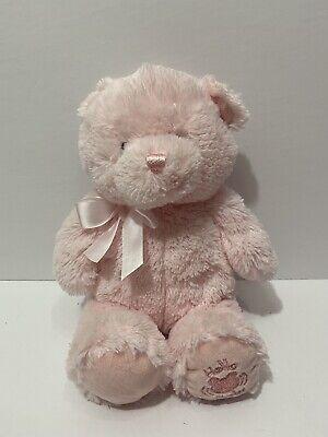 "Baby Gund Musical Bear Pink Teddy My First Bear ""hello Baby"" Talking"