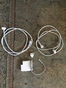 MacBook power cord and adapter set