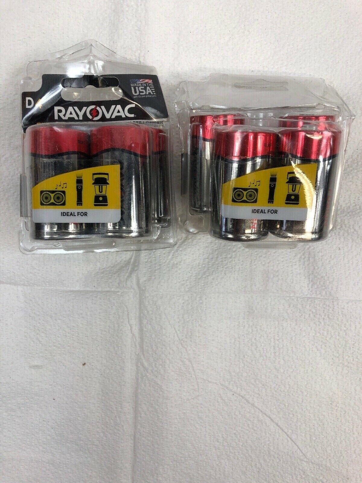 RAYOVAC D 4-Pack FUSION Premium Alkaline Batteries, 813-4TFU