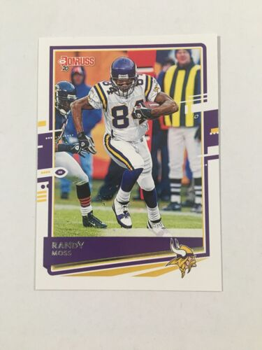 2020 Donruss Football - Randy Moss Base Card 165 - Minnesota Vikings - $1.49