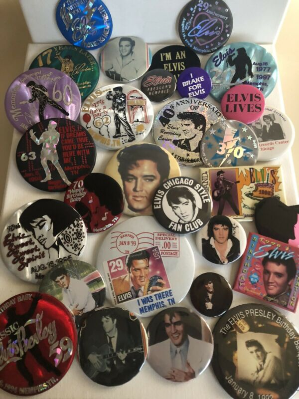 Lot Of Elvis Presley Pins