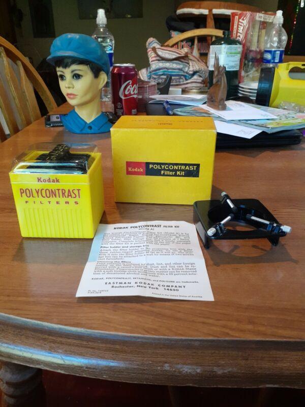 Vtg Kodak Polycontrast Kit Box Set 7 Filters for Enlarging Darkroom Photography