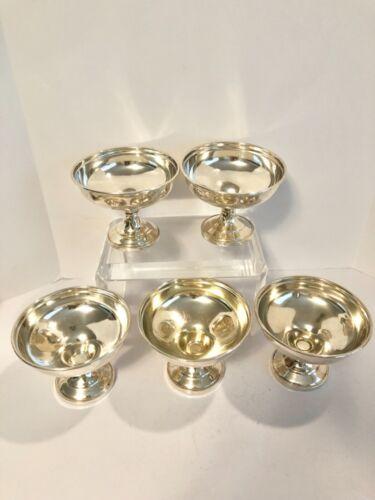 Sterling Silver Dessert Cups Set Of 5