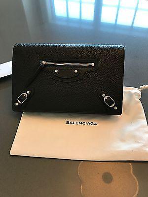 NWT Balenciaga leather wallet on a chain
