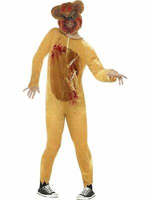 Deluxe Zombie Teddy Bear Men's Fancy Dress - Teddy Bear Costume Men