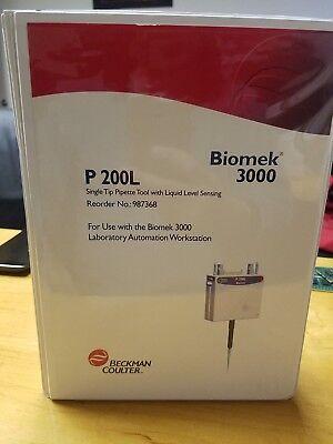 Beckman Coulter Biomek 3000 Mp200l Tool Singe Tip With Liquid Sensing 987368