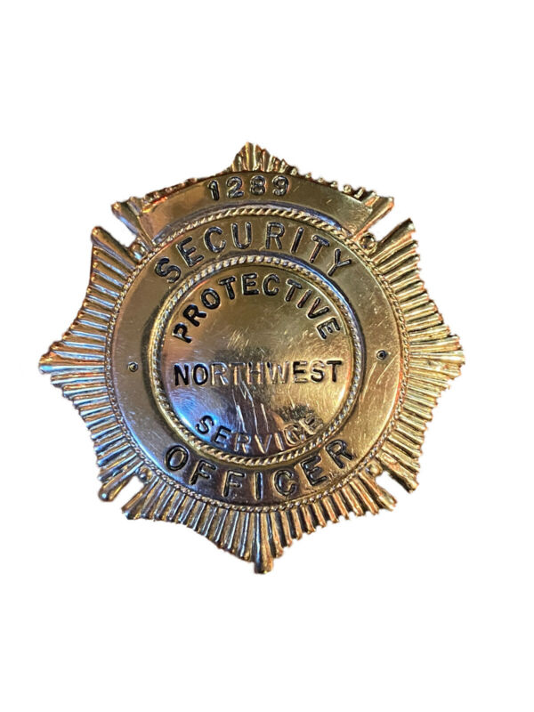 Vintage Blackinton Metal Security Officer Badge Northwest Protective Services