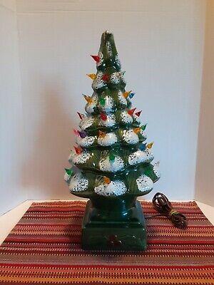 Vintage Light Up Ceramic Mold Christmas Tree
