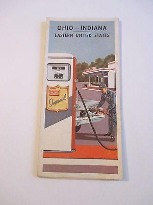 Vintage 1961 ATLANTIC OHIO INDIANA EASTERN US Gas Service Station Road Map
