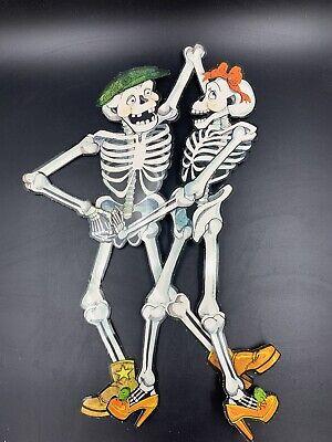 Vintage Halloween Cut Outs Hallmark, Beistle, Skeletons, Pumpkins, Cat,