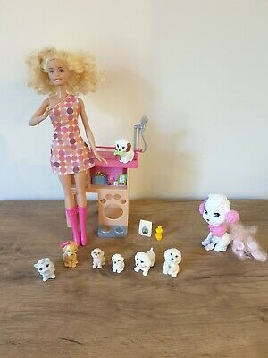 Barbie Pet Station Bundle with accessories Pets Doll & Endless Hair Kingdom Dog