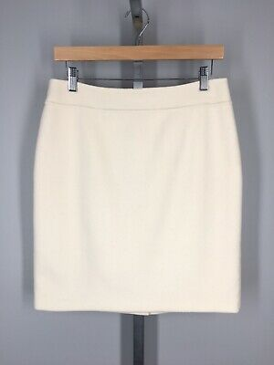 Talbots Petites Skirt Size 6P Wool Blend Ivory Cream Straight Pencil ()