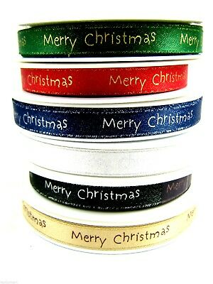 - 10mm Satin Woven Edge Christmas Ribbon