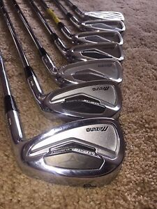 Mizuno irons. Right hand