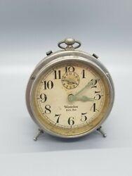 VINTAGE WESTCLOX BABY BEN WINDUP ALARM CLOCK--WESTERN CLOCK CO U.S.A.--WORKS