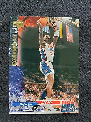 = 1994 Upper Deck Michael Jordan Basketball Exchange Set Card USA 5 = Near Mint