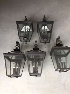 10 High End Coach Lamps & coordinating hanging light fixture