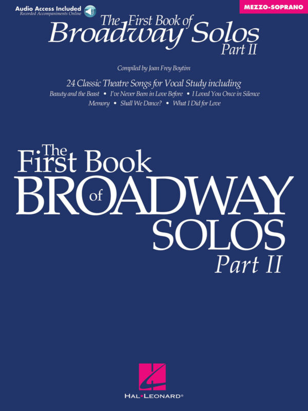 The First Book of Broadway Solos 2 Mezzo-Soprano Sheet Music Songs Online Audio