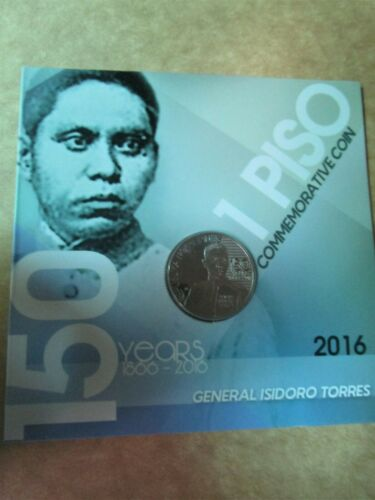 2016 General isidro Torres Commemorative Coin 1 piso 150 years carded new