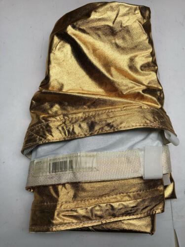 """Matthews Matthews RoadFlag Fabric, Gold Lame - 48x48"""""""