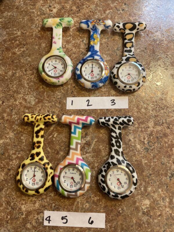 Aureus Medical Watch Pin Nurses Medical Brooch  Rubber Pocket Watch New