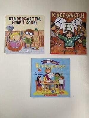Kindergarten Lot of 3 Children's Picture Books1st Day Of School - 1st Day Of Kindergarten