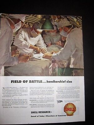 Doctors and Nurses Perform Battlefield Operation WWII Ad