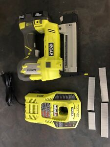 RYOBI 18-Volt ONE+ AirStrike Brad Nailer with Battery, Charger