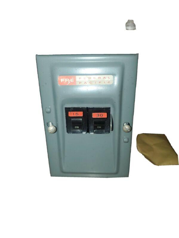 FPE Federal Pacific   CIRCUIT BREAKER 2POLE BOX  (NEW) 15 amp 30 amp Breakers