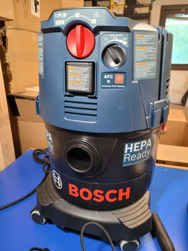 Bosch VAC090AH 9-Gal Dust Extractor Auto Filter Clean and HEPA Filter OPEN BOX