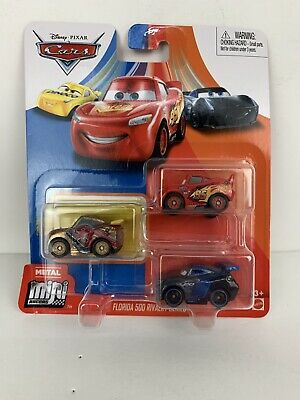 DISNEY PIXAR CARS MINI RACERS GOLD CRUZ FLORIDA 500 RIVALRY 3 PACK FREE SHIP
