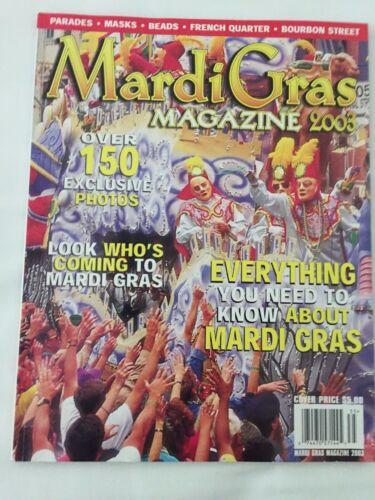 2003 NEW ORLEANS MARDI GRAS MAGAZINE GUIDE