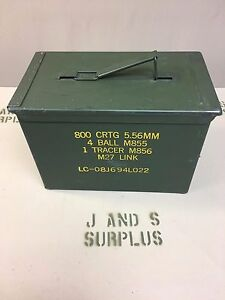 USGI Military FAT 50 CAL PA108 Saw Box Ammo Can 5.56 .223 7.62 mm Free Shipping