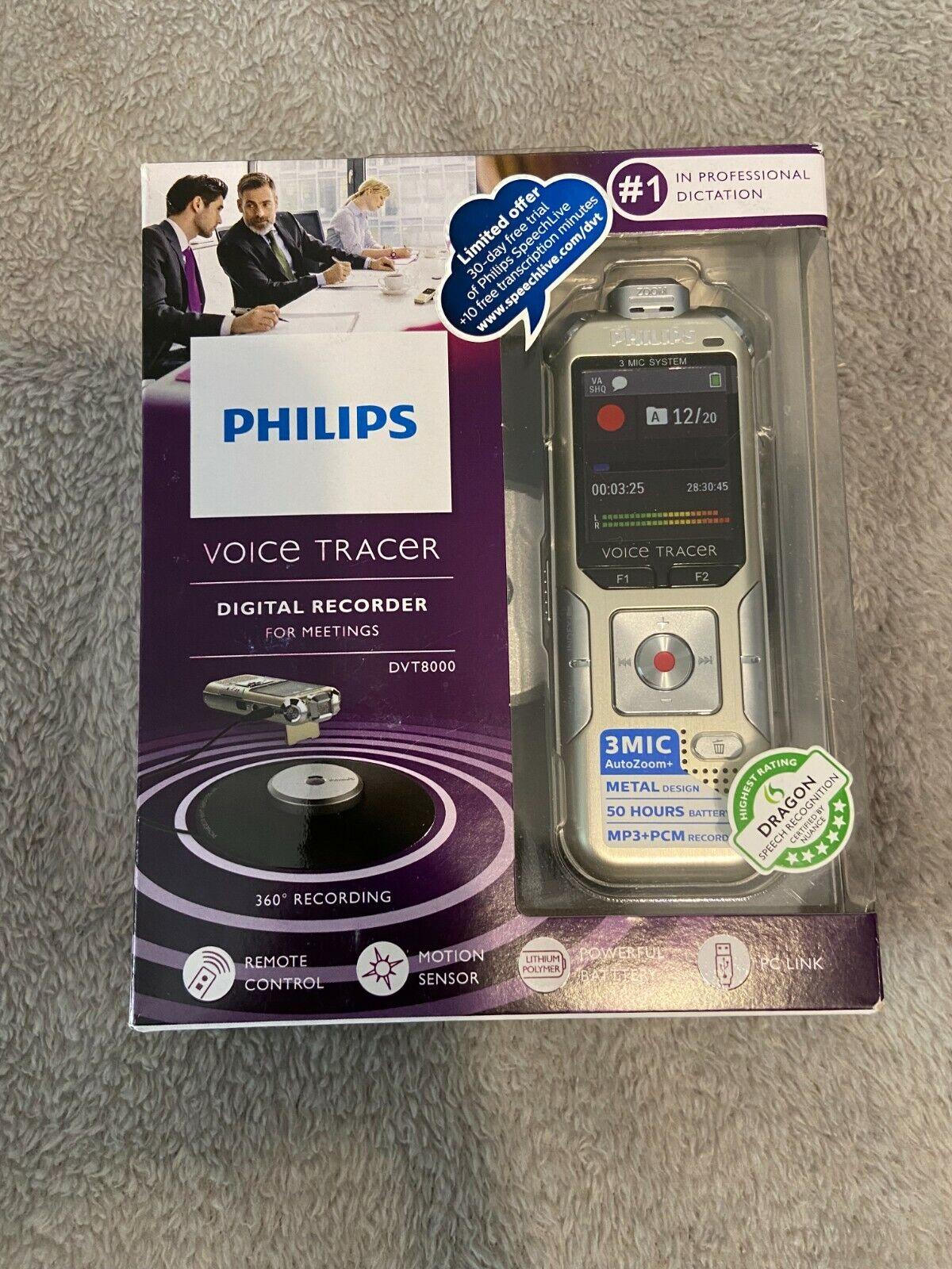 PHILIPS DVT8000 VOICE TRACER - 360 recording