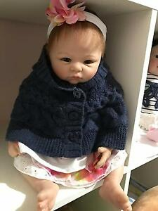 SOLD Reborn Baby Girl Doll vinyl lifelike so Real Docklands Melbourne City Preview