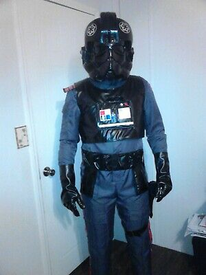 tie fighter pilot helmet, jumpsuit, gloves, belt, - Fighter Pilot Helmet
