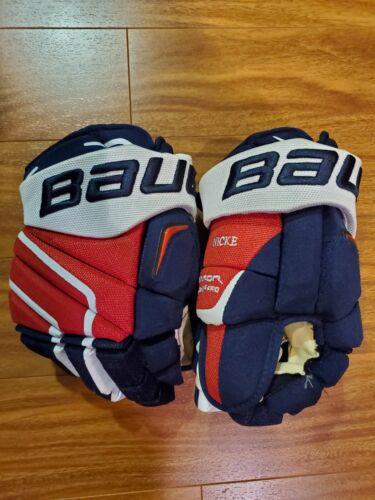 "Washington Capitals Nicklas Backstrom 13"" Bauer APX2 Pro Stock Hockey Gloves"