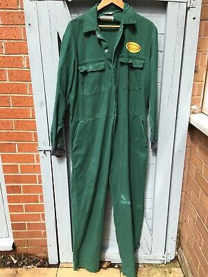 Vintage A1 PitstopGreen Jumpsuit Boiler Suit Approx UK size 16 See Measurements