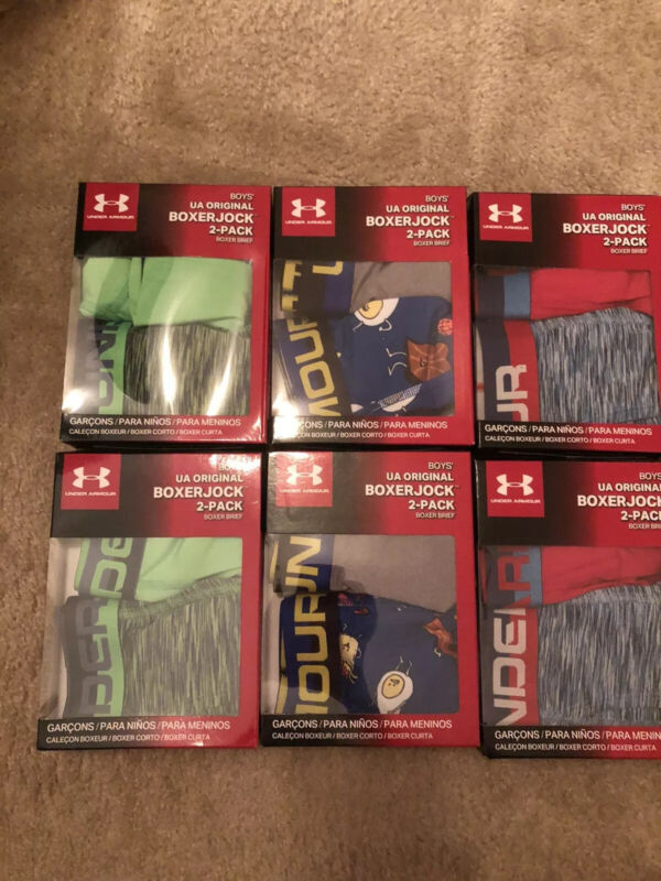 Under Armour Boxer Sets-NWT-Youth Medium or Large-U Pick Size/Color-Football