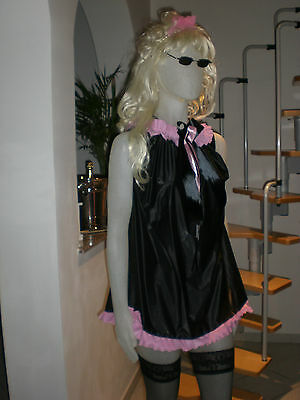 NEU ULTRA SOFT PVC BABYDOLL KLEID NIGHT DRESS - Rosa Doll Kostüme