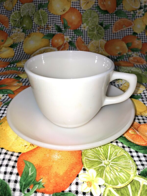 Vintage Fire King Tea Cup And Saucer Set