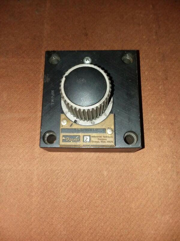 Parker PG3KGB10 flow control