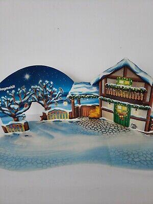 Playmobil Christmas Backdrop Cardboard Scene Advent Calendar Winter