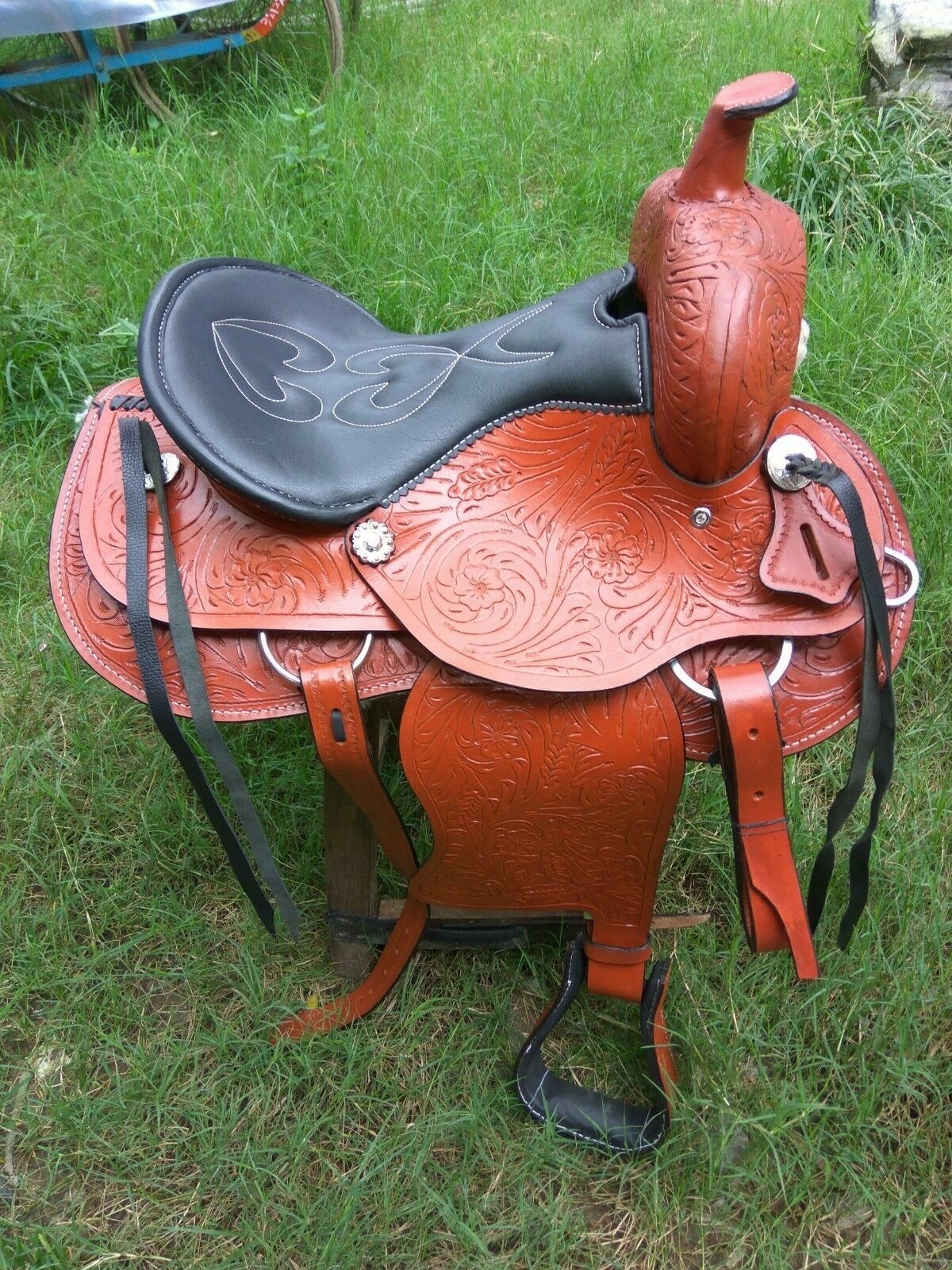 western leather brown saddle size 15 to
