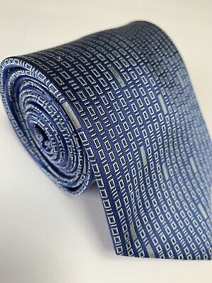 Blue Binary Code 100% Silk Necktie Neck Tie ThinkGeek Computer Code 61in Long Binary Code Silk