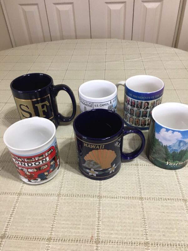 Collection Lot of 6 Assorted Places Vintage Coffee/ Tea  Mugs Cups