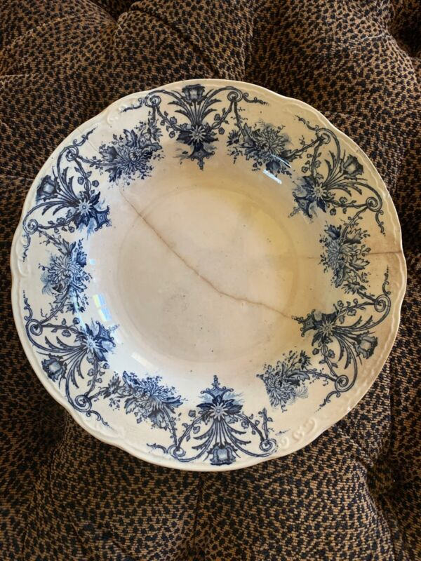 Antique Scottish Glasgow Pottery - J & M.P. Bell & Co Ltd Serving Bowl