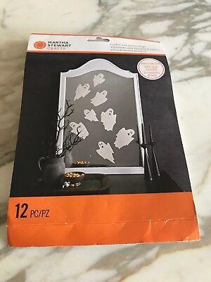 Martha Stewart Crafts Ghost Window Mirror Clings 12 piece - Martha Stewart Halloween Window Clings