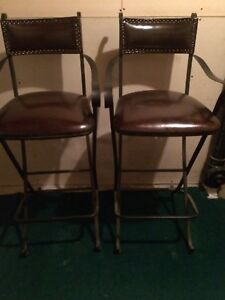 Leather bar chairs